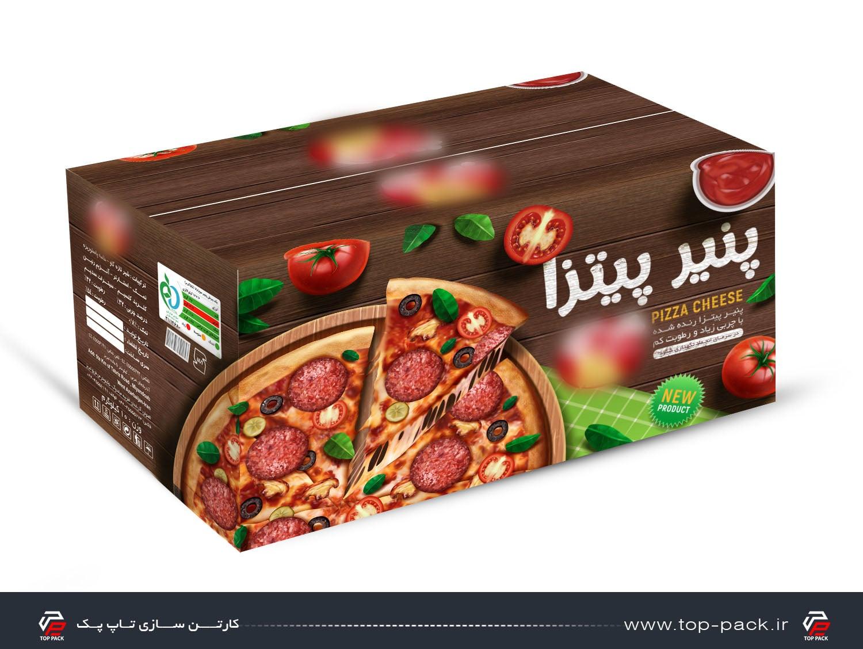 کارتن پنیر پیتزا با طرحی جدید